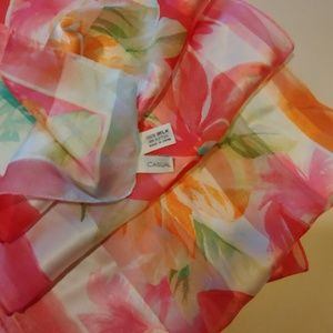 Casual Corner Accessories - Gorgeous CASUAL CORNER 100/ Silk Scarf